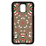 Christmas Kaleidoscope Samsung Galaxy S5 Case (Black) Front