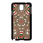 Christmas Kaleidoscope Samsung Galaxy Note 3 Neo Hardshell Case (Black) Front