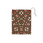 Christmas Kaleidoscope Drawstring Pouches (Small)  Front