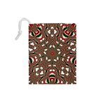 Christmas Kaleidoscope Drawstring Pouches (Small)  Back