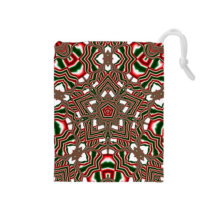 Christmas Kaleidoscope Drawstring Pouches (Medium)