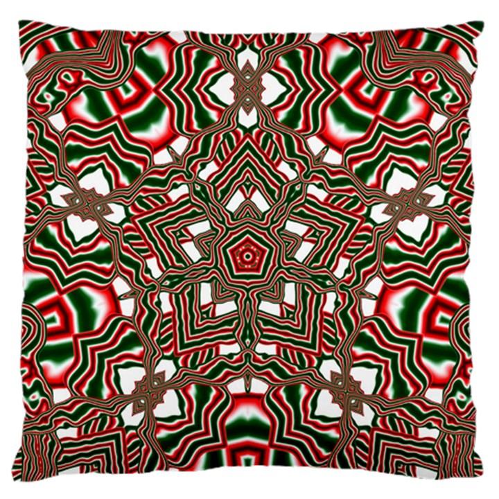 Christmas Kaleidoscope Large Flano Cushion Case (Two Sides)
