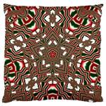 Christmas Kaleidoscope Large Flano Cushion Case (Two Sides) Back