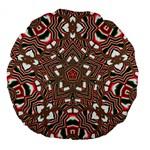 Christmas Kaleidoscope Large 18  Premium Flano Round Cushions Front