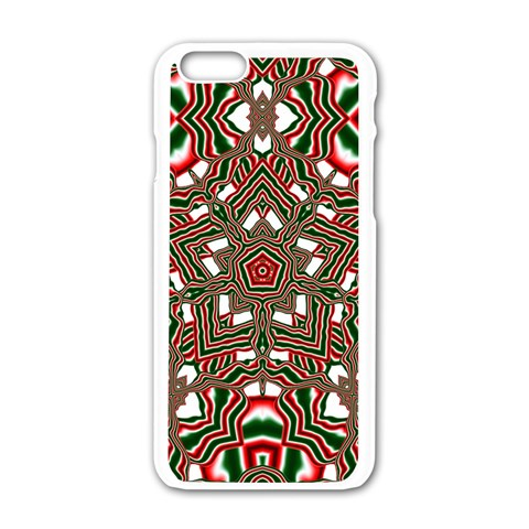 Christmas Kaleidoscope Apple iPhone 6/6S White Enamel Case