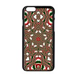 Christmas Kaleidoscope Apple iPhone 6/6S Black Enamel Case Front