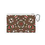 Christmas Kaleidoscope Canvas Cosmetic Bag (S) Back