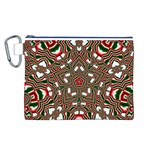 Christmas Kaleidoscope Canvas Cosmetic Bag (L) Front