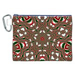Christmas Kaleidoscope Canvas Cosmetic Bag (XXL) Front