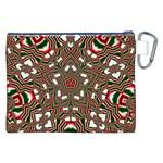 Christmas Kaleidoscope Canvas Cosmetic Bag (XXL) Back