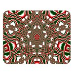 Christmas Kaleidoscope Double Sided Flano Blanket (Large)  80 x60 Blanket Front