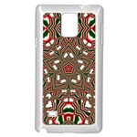 Christmas Kaleidoscope Samsung Galaxy Note 4 Case (White) Front