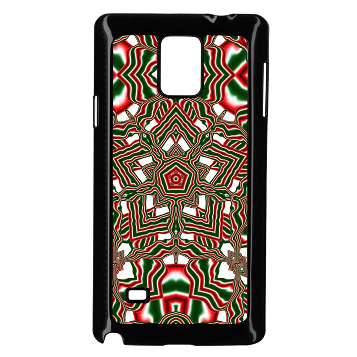 Christmas Kaleidoscope Samsung Galaxy Note 4 Case (Black)