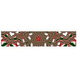 Christmas Kaleidoscope Flano Scarf (Small) Back