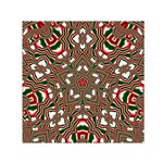 Christmas Kaleidoscope Small Satin Scarf (Square) Front