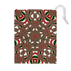 Christmas Kaleidoscope Drawstring Pouches (Extra Large)