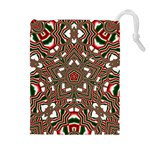 Christmas Kaleidoscope Drawstring Pouches (Extra Large) Front