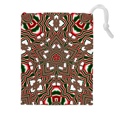 Christmas Kaleidoscope Drawstring Pouches (XXL)