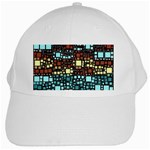 Block On Block, Aqua White Cap Front