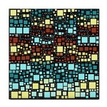 Block On Block, Aqua Tile Coasters Front