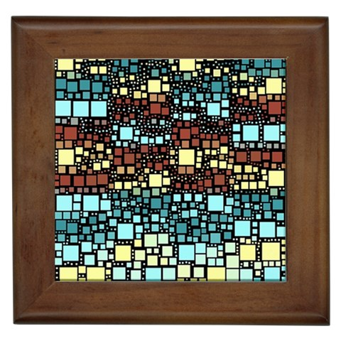 Block On Block, Aqua Framed Tiles
