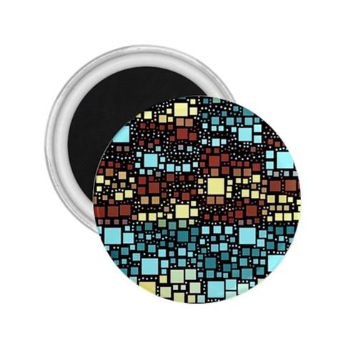Block On Block, Aqua 2.25  Magnets