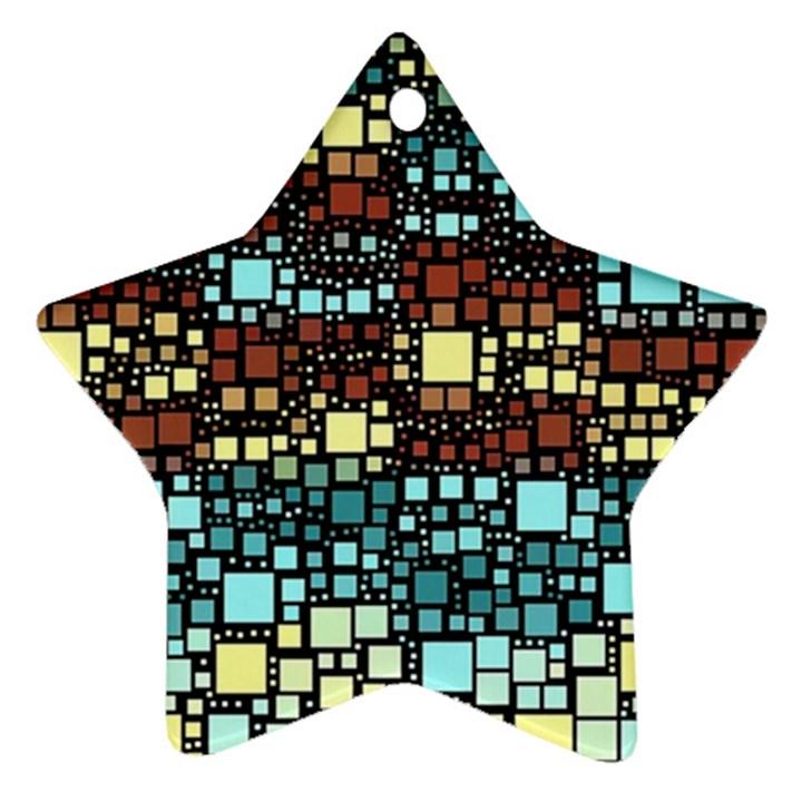Block On Block, Aqua Ornament (Star)