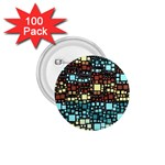Block On Block, Aqua 1.75  Buttons (100 pack)  Front