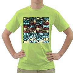 Block On Block, Aqua Green T-Shirt