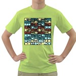 Block On Block, Aqua Green T-Shirt Front