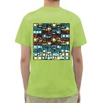 Block On Block, Aqua Green T-Shirt Back