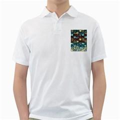 Block On Block, Aqua Golf Shirts