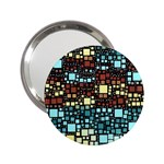 Block On Block, Aqua 2.25  Handbag Mirrors Front