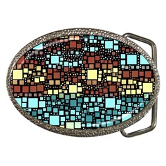 Block On Block, Aqua Belt Buckles