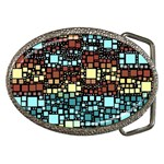 Block On Block, Aqua Belt Buckles Front