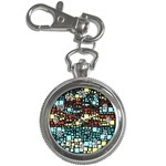 Block On Block, Aqua Key Chain Watches Front