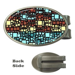 Block On Block, Aqua Money Clips (Oval)