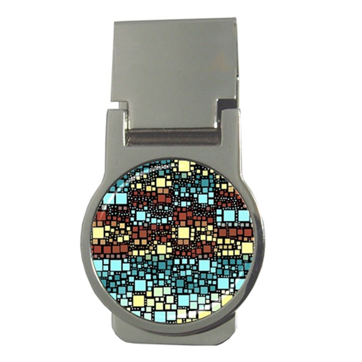Block On Block, Aqua Money Clips (Round)