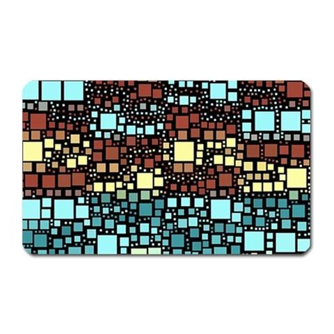 Block On Block, Aqua Magnet (Rectangular)