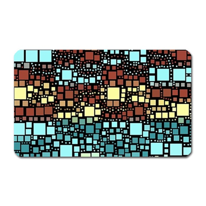 Block On Block, Aqua Magnet (Rectangular)