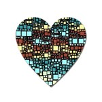 Block On Block, Aqua Heart Magnet Front