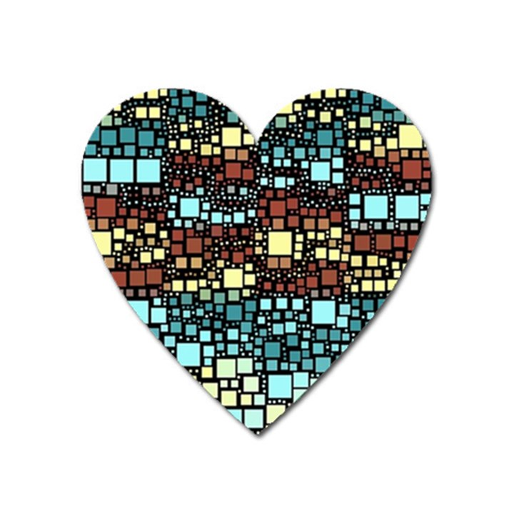 Block On Block, Aqua Heart Magnet
