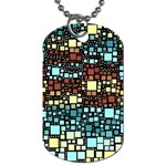 Block On Block, Aqua Dog Tag (One Side) Front
