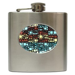 Block On Block, Aqua Hip Flask (6 oz)