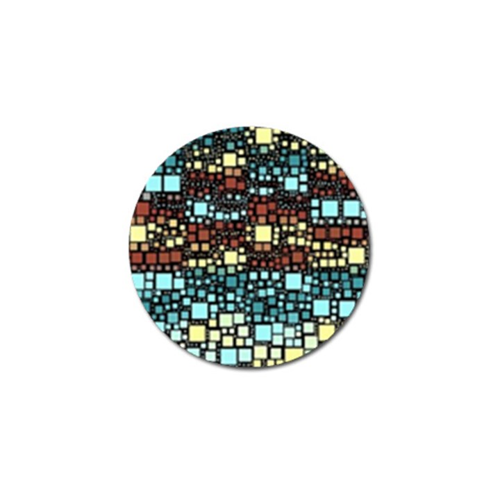 Block On Block, Aqua Golf Ball Marker