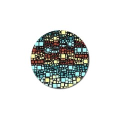 Block On Block, Aqua Golf Ball Marker (4 Pack)