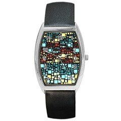 Block On Block, Aqua Barrel Style Metal Watch