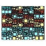 Block On Block, Aqua Rectangular Jigsaw Puzzl Front