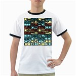 Block On Block, Aqua Ringer T-Shirts Front