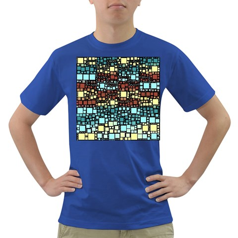 Block On Block, Aqua Dark T-Shirt